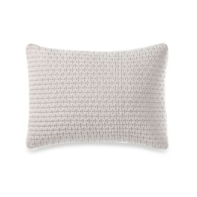 Vera Wang™ Water Flower Quilted Silk Breakfast Throw Pillow