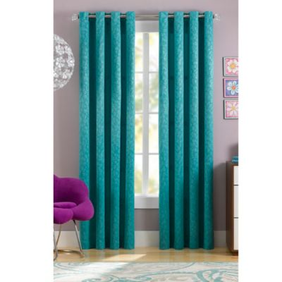 Spotty Thermaweave 63-Inch Window Curtain Panel in Turquoise