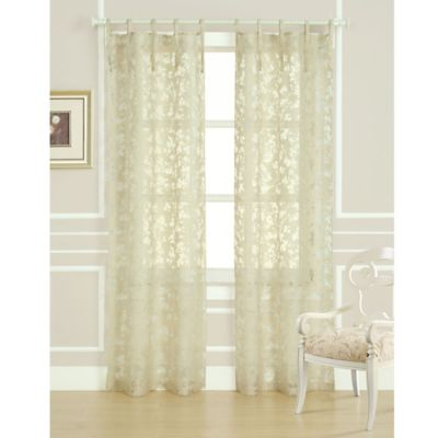 Laura Ashley® Rothbury 84-Inch Burnout Window Curtain Panel Pair in Ivory