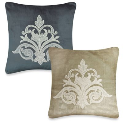 Downton Abbey® Milady Collection Hand-Appliqued Lace Square Throw Pillow in Champagne