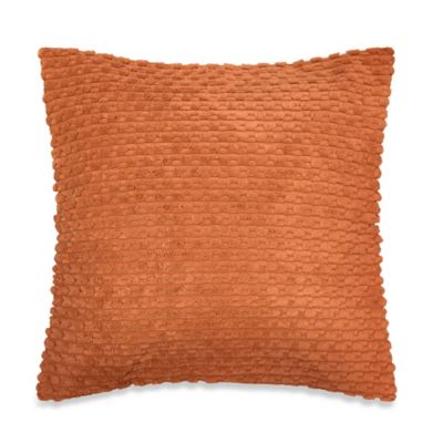 Nubby Plush Square Throw Pillow