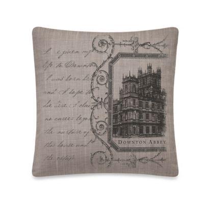 Downton Abbey® Castle Square Throw Pillow