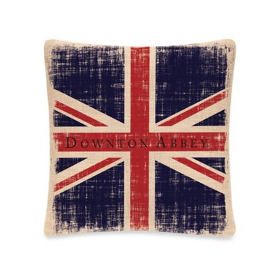 Downton Abbey® Union Jack Square Throw Pillow