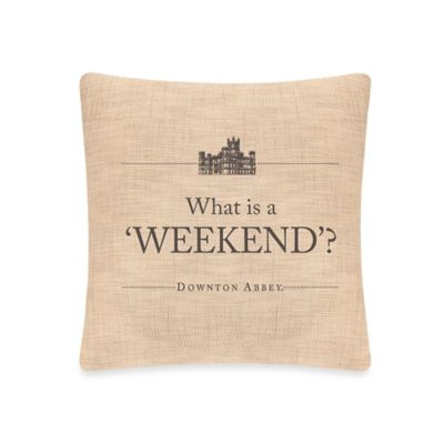 Downton Abbey® Simply Stated Weekend Square Throw Pillow