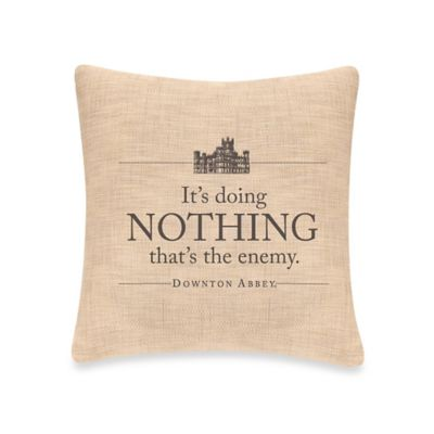 Downton Abbey® Simply Stated Nothing Square Throw Pillow