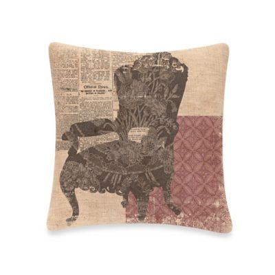 Downton Abbey® Silhouettes Queen Anne Chair Square Throw Pillow