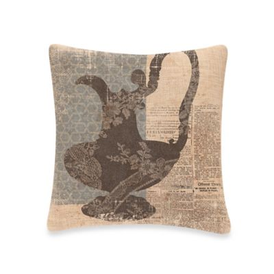 Downton Abbey® Silhouettes Pitcher Square Throw Pillow