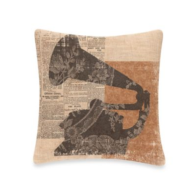 Downton Abbey® Silhouettes Gramophone Square Throw Pillow