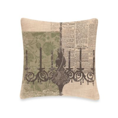 Downton Abbey® Silhouettes Chandelier Square Throw Pillow