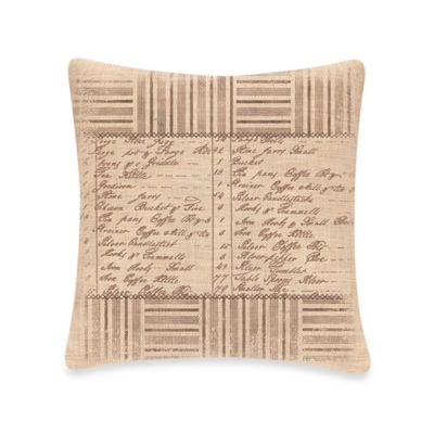 Downton Abbey® Kitchen Inventory Square Throw Pillow