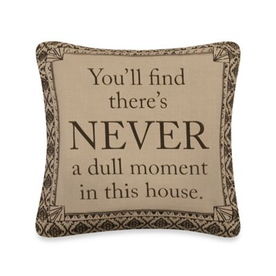 "Downton Abbey® Life Collection ""Never"" Square Throw Pillow"