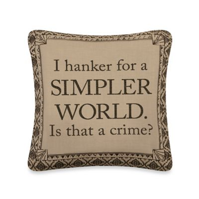 "Downton Abbey® Life Collection ""Simpler World"" Square Throw Pillow"