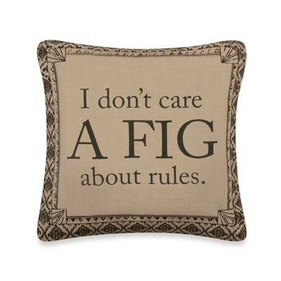 "Downton Abbey® Life Collection ""A Fig"" Square Throw Pillow"