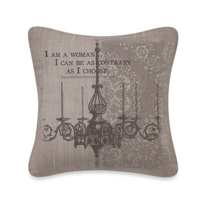 "Downton Abbey® Iconic ""Woman"" Square Throw Pillow"