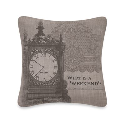 "Downton Abbey® Iconic ""Weekend"" Square Throw Pillow"
