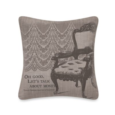 "Downton Abbey® Iconic ""Money"" Square Throw Pillow"