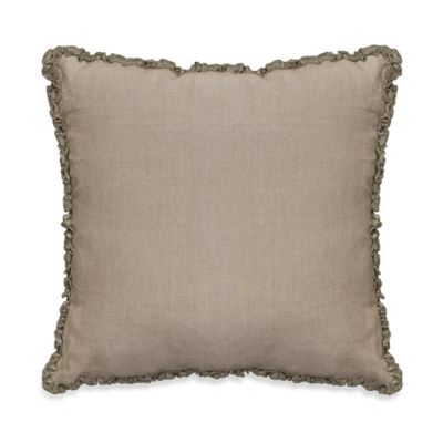 Downton Abbey® Ruffled Luxury Collection Linen Square Throw Pillow