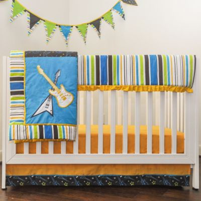 Pam Grace Creations Rockstar 10-Piece Crib Bedding Set