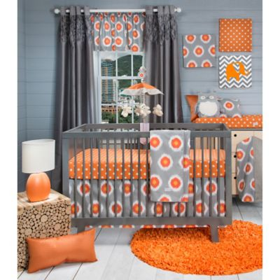 3-Piece Orange Crib Set