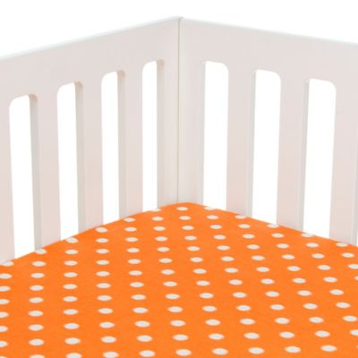 Glenna Jean Rhythm Fitted Crib Sheet in Orange Dot