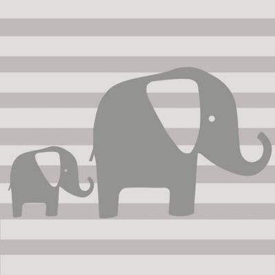 Glenna Jean Elephant Wall Decal in Grey (Set of 2)