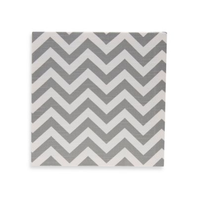 Chevron Wall Art in Grey