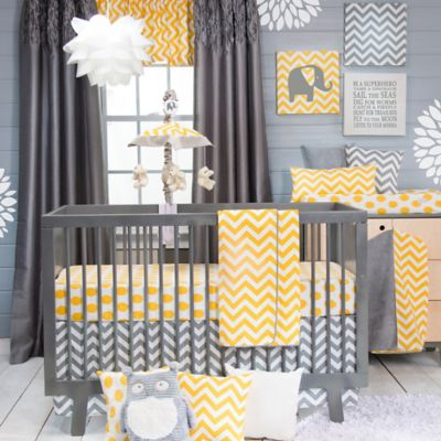 3-Piece Crib Bedding Set In Yellow