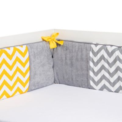 Glenna Jean Swizzle Crib Bumper in Yellow