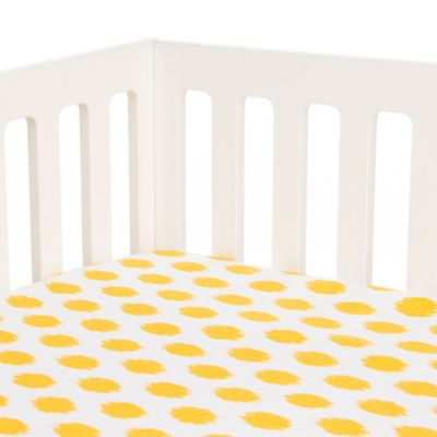 Glenna Jean Swizzle Fitted Crib Sheet in Yellow Dot