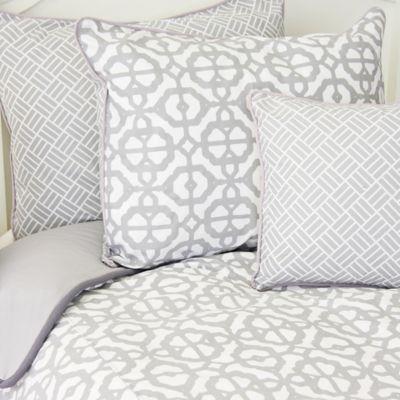 Caden Lane® Arrow Standard Pillow Sham in Grey