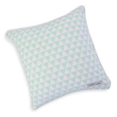 Caden Lane® Arrow Square Toss Pillow in Mint Triangles