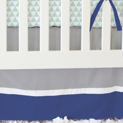 Caden Lane® Arrow 2-Piece Crib Bedding Set in Navy and Mint