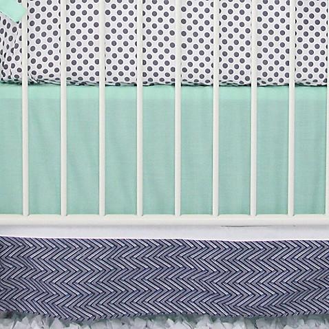 Caden Lane Arrow Chevron Crib Bedding Collection in Mint
