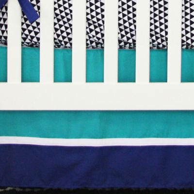 Caden Lane® Deco 2-Piece Crib Bedding Set in Navy