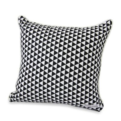 Caden Lane® Deco Square Throw Pillow in Black Triangles