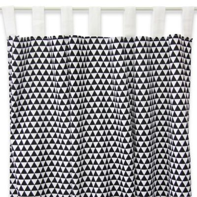 Caden Lane® Deco Window Panel Pair in Black Triangles