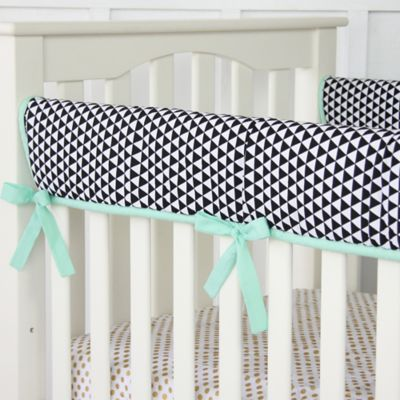 Caden Lane® Eclectic Mint Crib Rail Cover