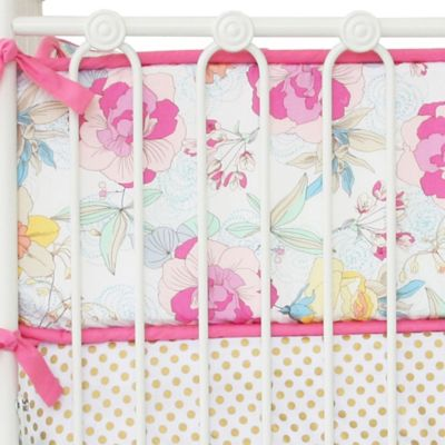 Caden Lane® Gabby's Garden 4-Piece Crib Bumper