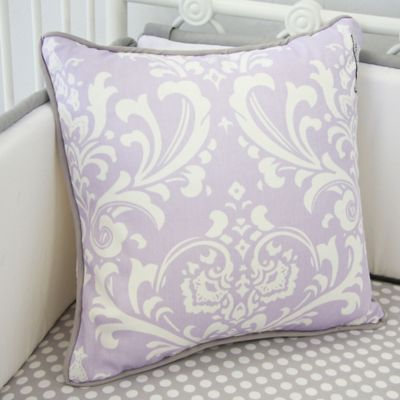Caden Lane® Sweet Lace Damask Square Toss Pillow in Lavender