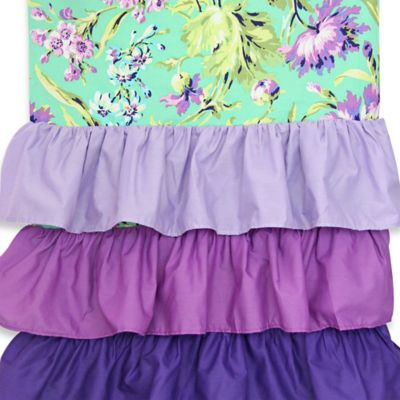 Caden Lane® Paige Ruffle Window Panel Pair in Purple