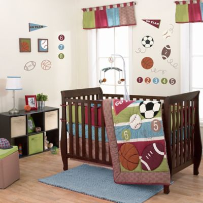 Belle Sports Star 3-Piece Crib Bedding Set