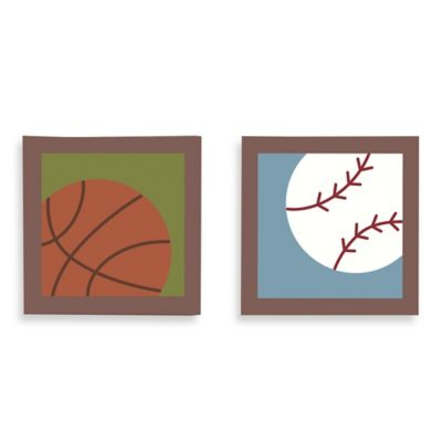 Belle Sports Star 2-Piece Canvas Wall Art