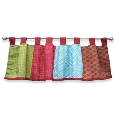 Blue and Brown Print Valance