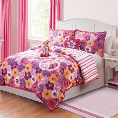 Liliana 5-Piece Reversible Full Comforter Set With Doll