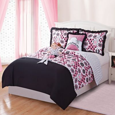 Lana 5-Piece Reversible Full Comforter Set With Doll