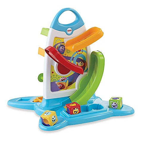 Buy Fisher Price 174 Roller Blocks Play Wall From Bed Bath