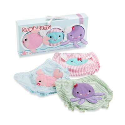 Baby Aspen 3-Piece Bloomer Gift Set in Beach Bums