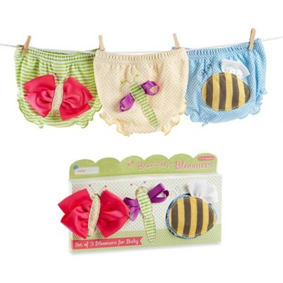 Baby Aspen Size 0-6M 3-Piece Bloomer Gift Set in Buzzin' Bugs