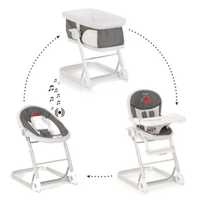 i'coo 1-2-3 Grow With Me High Chair Set in Grey
