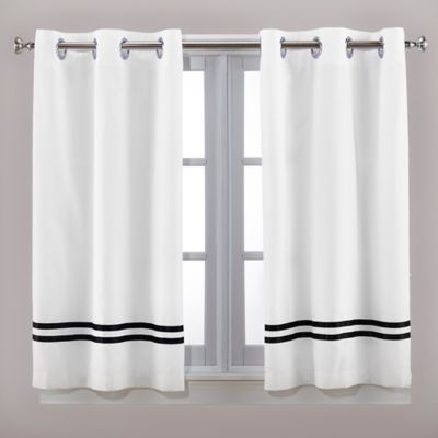 Hookless® Escape 45-Inch Bath Window Curtain Panels in Black/White